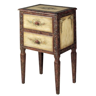 Furniture living room furniture end table hekman end for Tall side tables living room