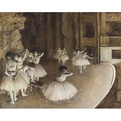 Dance Rehearsal 1874 Painting Print on Canvas D2045-3C