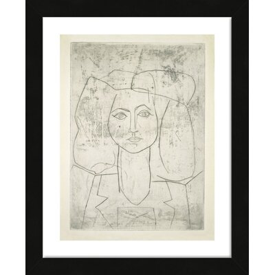 'Portrait of Francoise, Dressed...' by Pablo Picasso Framed Wall Art 28138FR