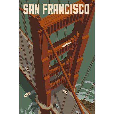 "'San Francisco - Golden Gate Bridge' Vintage Advertisement Print, Poster Size: 19"" H x 13"" W x 0.125"" D L4530-2P"