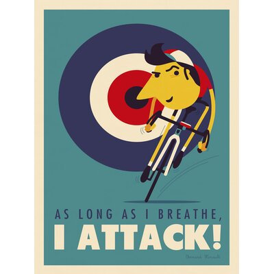 "'Attack'  Graphic Art Print, Poster Size: 26"" H x 20"" W x 0.125"" D W1866-4P"