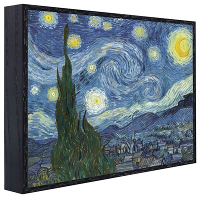 'Starry Night' by Vincent Van Gogh Framed Oil Painting Print LRUN1710 39050711