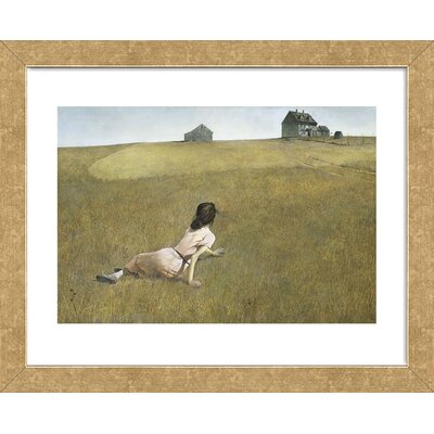 'Christina's World' Framed Watercolor Painting Print on Paper Frame Color: Gold ACOT5562 39123582