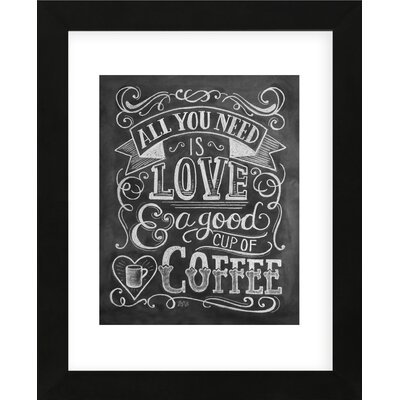 'All You Need is Love and a Good Cup of Coffee' Framed Textual Art RDBT7692 43171996