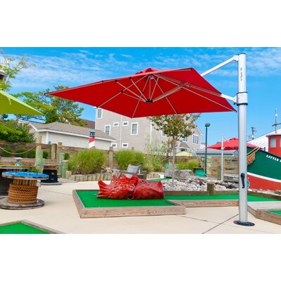 10 Square Cantilever Umbrella Color: Logo Red