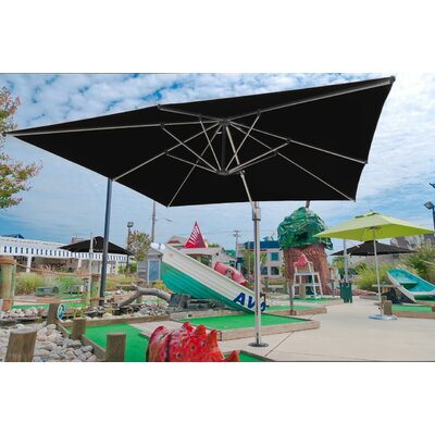 Square Commercial Grade Eclipse Cantilever Umbrella Teal Stripe - Product photo