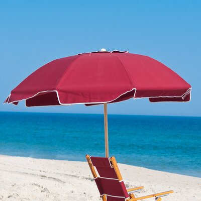7.5 Beach Umbrella Fabric: Burgundy Acrylic