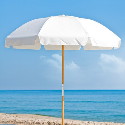 7.5 Drape Umbrella Fabric: White Acrylic