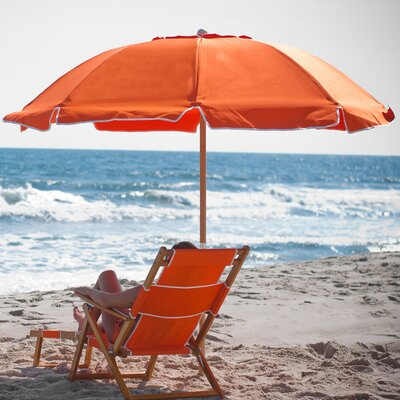 7.5 Beach Umbrella Fabric: Orange Acrylic