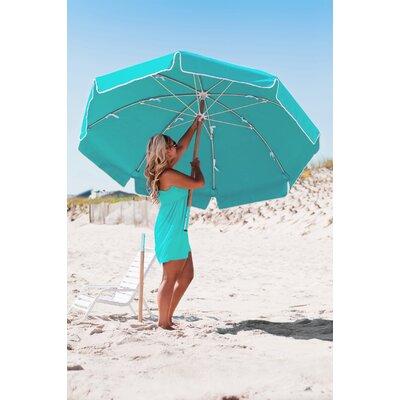 7.5 Drape Umbrella Fabric: Turquoise Acrylic
