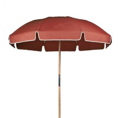 7.5 Beach Umbrella Fabric: Coral Acrylic