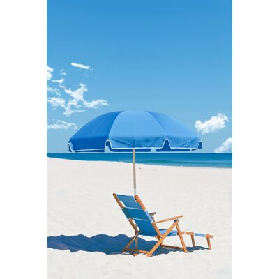 7.5 Beach Umbrella Fabric: Capri Blue