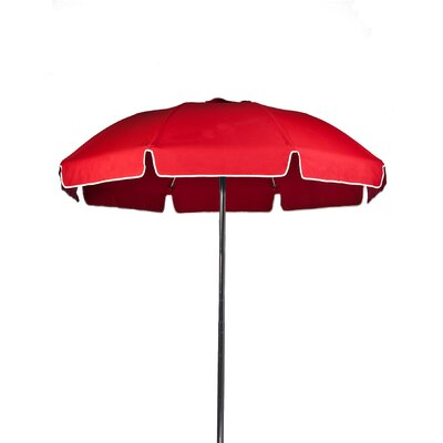 7.5 Beach Umbrella Color: Logo Red, Vent: Yes