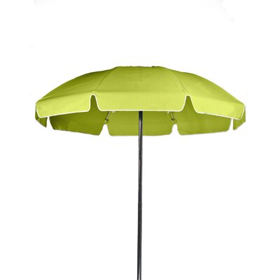 7.5 Beach Umbrella Color: Pistachio, Vent: Yes