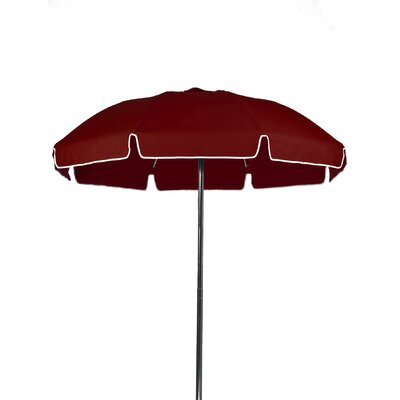 7.5 Beach Umbrella Color: Burgundy, Vent: Yes