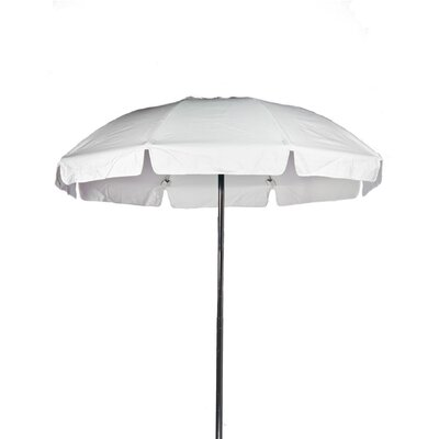 7.5 Beach Umbrella Color: White, Vent: Yes