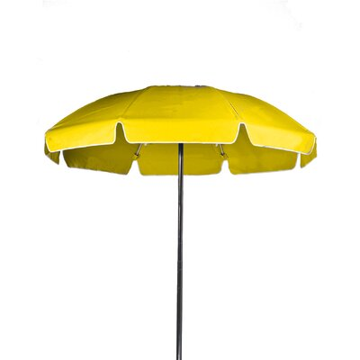 7.5 Beach Umbrella Color: Yellow, Vent: Yes