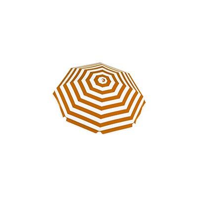 7.5 Beach Umbrella Fabric: Orange / White Stripe