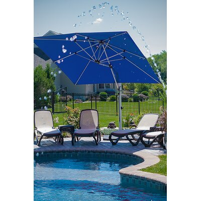 9 Aurora Square Cantilever Umbrella Color: Pacific Blue