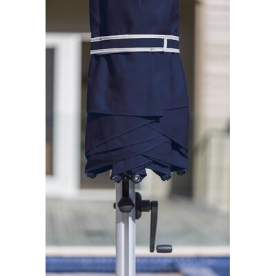 9 Aurora Square Cantilever Umbrella Color: Navy Blue