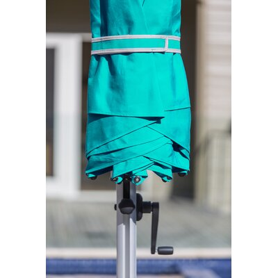 9 Aurora Square Cantilever Umbrella Color: Turquoise