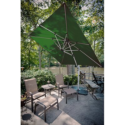 9 Aurora Square Cantilever Umbrella Color: Forest Green