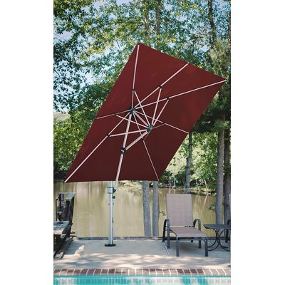 9 Aurora Square Cantilever Umbrella Color: Burgundy
