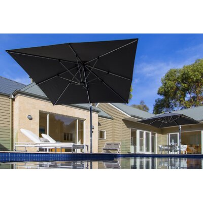 9 Aurora Square Cantilever Umbrella Color: Black