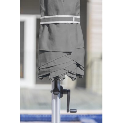 9 Aurora Square Cantilever Umbrella Color: Cadet Gray