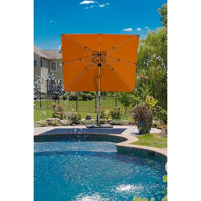 9 Aurora Square Cantilever Umbrella Color: Orange