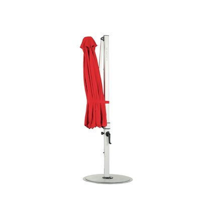 9 Aurora Square Cantilever Umbrella Color: Logo Red