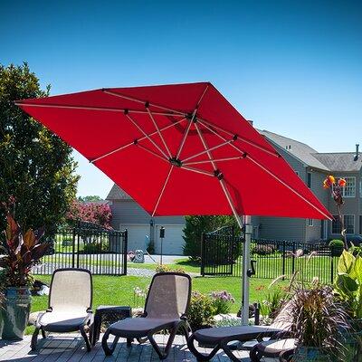 9 Aurora Square Cantilever Umbrella Color: Logo Red