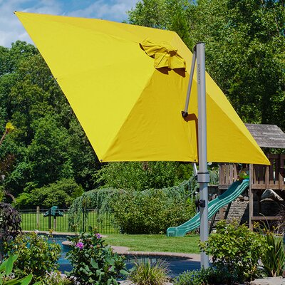 9 Aurora Square Cantilever Umbrella Color: Sunflower Yellow