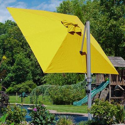 9 Aurora Square Cantilever Umbrella Color: Sunflower Yellow