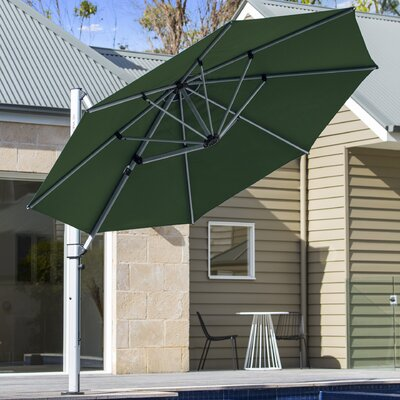 11 Aurora Cantilever Umbrella Color: Forest Green