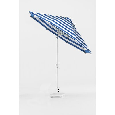 9 Market Umbrella Finish: Silver, Color: Turquoise & White Stripe