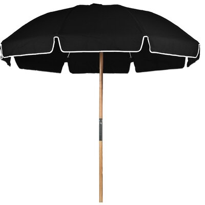 7.5 Beach Umbrella Fabric: Black Acrylic