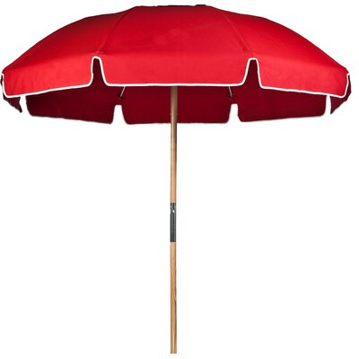 7.5 Beach Umbrella Fabric: Logo Red Acrylic