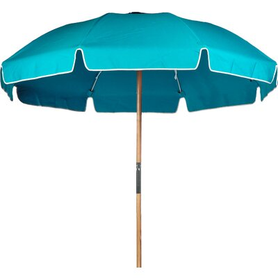7.5 Beach Umbrella Fabric: Turquoise Acrylic