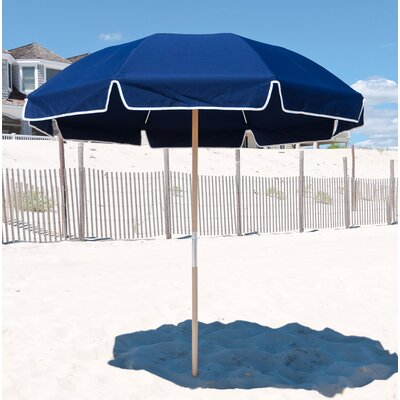 7.5 Beach Umbrella Fabric: Navy Blue Acrylic