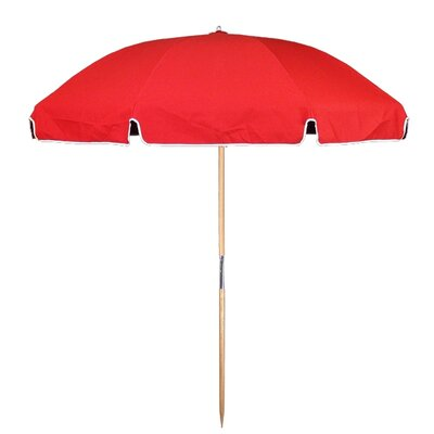 7.5 Beach Umbrella Fabric: Logo Red