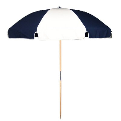 7.5 Beach Umbrella Fabric: Navy Blue / White