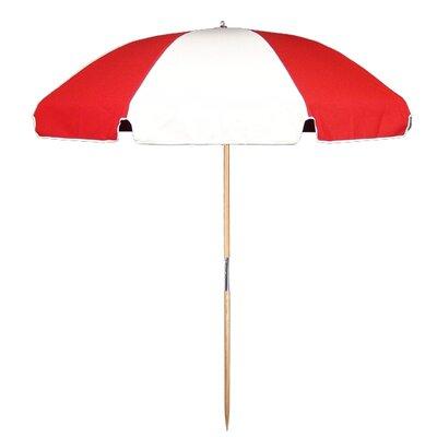7.5 Beach Umbrella Fabric: Red / White