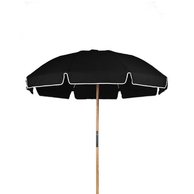 7.5 Drape Umbrella Fabric: Black Acrylic