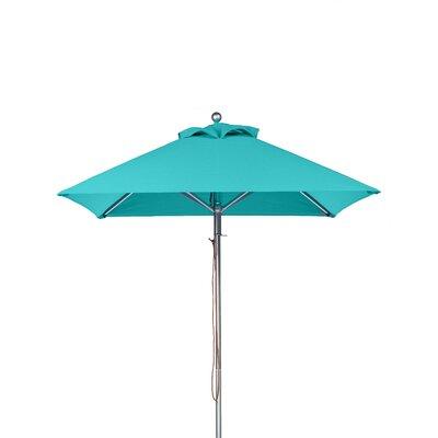 6.5' Square Market Umbrella Fabric: Turquoise