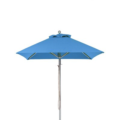 6.5' Square Market Umbrella Fabric: Capri Blue