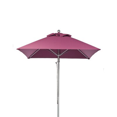 6.5' Square Market Umbrella Fabric: Coral
