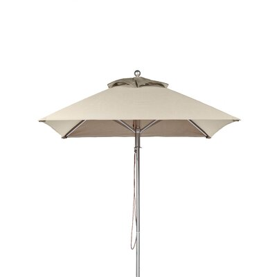 6.5' Square Market Umbrella Fabric: Linen