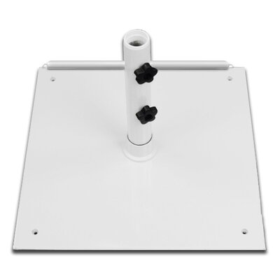 75 lb Steel Base Color: White