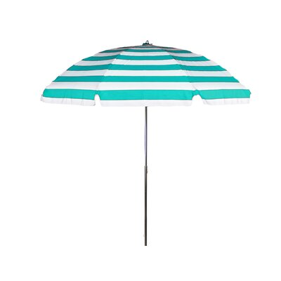 7.5 Drape Umbrella Fabric: Turquoise and White Stripe